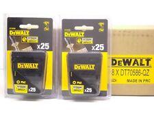 2 x Packs of DEWALT Extreme Impact Phillips Bits 25mm Ph2 Screwdriver Bit Qty:50