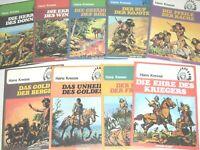 gepflegte Sammlung: DIE INDIANER 1-9 komplett, Carlsen 1977, super Zust. (0-1,1)