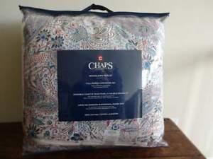 Ralph Lauren CHAPS WOODLAWN PAISLEY Floral BLUE Multi QUEEN COMFORTER Sham Set