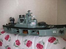 Maquette vintage bateau commandée USS Destroyer 65 américain, 86 cm de long !