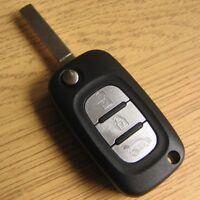 Coque Clé Plip Telecommande 3 Boutons pour Renault Clio Kangoo Megane Twingo