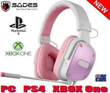SADES DPOWER PS4 Playstation Gaming Headset Mic Chat BRAND NEW PINK GIRLS LADIE