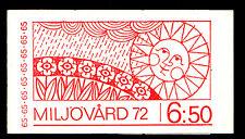 SWEDEN (H256) Scott 934a, Environment Emblem booklet, VF