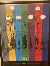 WILCO 3/7/08 Framed Poster Houston 2008