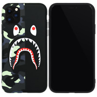A BATHING APE BAPE CITY CAMO SHARK Cover Case For iPhone 11 Pro Max XS XR 8 Plus