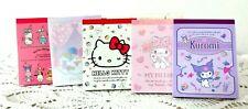 JAPAN Hello Kitty BULK LOT 5 Memo Set My Melody Kuromi Little Twin Stars Sanrio