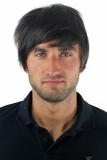 Male Wig Wig Mens Toupee Short Teen Casual Fashionable Braun gfw-933-4