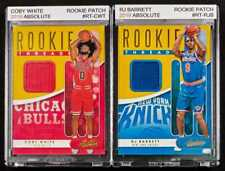 Coby White and RJ Barrett Rookie Patch 2019 Absolute in Magnetic Case