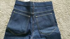 Vtg Style Land High Waist Bell Bottom Denim Jeans Boho Hippie Disco NOS 30 x 36