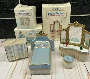 IDEAL Petite Princess Fantasy Furniture Vtg Bed Dressing Table Dresser / Chest
