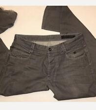 JACK & JONES MEN'S button fly gray jeans SZ 36  Rick Four Decor