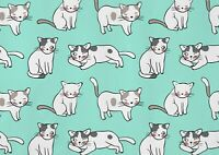 A1| Adorable Cat Drawing Poster Print Size 60 x 90cm Cute Cat Poster Gift #15886