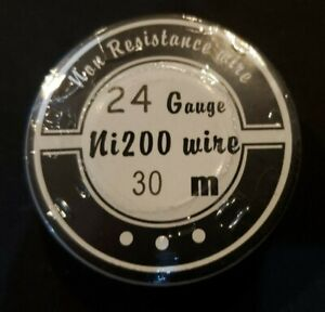 Ni200 - 50 ft. 24 Gauge AWG Pure Nickel 200 Non Resistance Wire 24g Cloud King