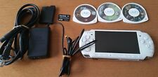 Sony PSP 3000 Launch Edition Pearl White Handheld System & Charger & 3 games