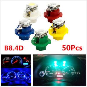 50Pcs T5 5050 1SMD LED B8.4D Indicator Car Gauge Dashboard Dash Side Lights Bulb