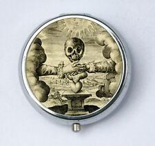Pill Case Shaking Hands Skull pillbox Holder