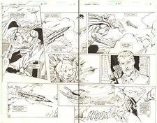 Green Arrow #88 pgs. 2&3 - Martian Manhunter Action DPS - 1994 art by Jim Aparo