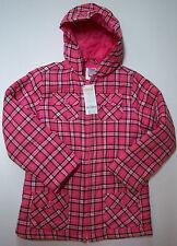 NWT Gymboree Panda Academy Sz M 7/8 Pink Plaid Hooded Coat