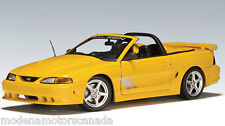 FORD MUSTANG SALEEN S351 CONVERTIBLE YELLOW AUTOart 1:18 BRAND NEW INBOX