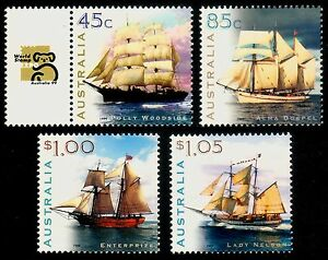 Sailing Ships of Australia 1999 Hi-values set, incl. Expo tab MNH  • FREE POST