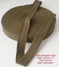 25mm  Cotton Herringbone Upholstery Bias Apron edging Bunting tape