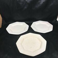 "Set of 3 Independence Ironstone Castleton White Octagon 6-1/2"" Plates"