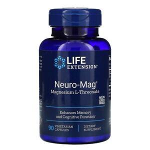 Life Extension, Neuro-Mag, Magnesium L-Threonate, 90 Vegetarian Capsules