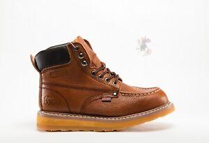 Men Work Boot Cobra C27M Dark Brown Genuine Leather Welt Construction #1 Quality