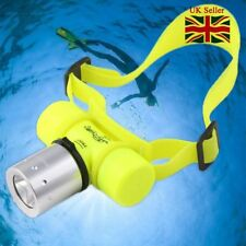 Diving Flashlight Headlamp 18650 Underwater 50M 20000LM LED T6 LED Waterproof UK