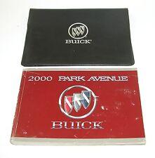 2000 Buick Park Avenue Factory Owners Manual Portfolio