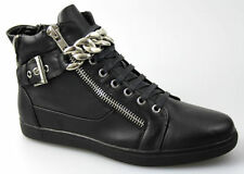 Unbranded Men's Lace Up Biker Synthetic Leather Boots