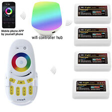 Mi-Light 4 Zonen LED RGB RGBW RGB+W Controller Touch Remote 2.4G WLAN WiFi APP