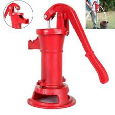 Functional Hand Water Well Pump Pitcher Cast Iron Press Suction Outdoor Yard New