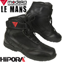 MODEKA LE MANS Motorradstiefel wasserdicht Leder Hipora Reflex Sport Stiefel
