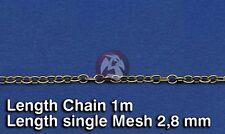Royal Model 1/35 Metal Chain (D) Single Mesh 2.8mm (Chain Length 1 meter) 519