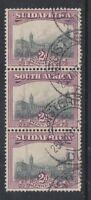 South Africa - 1930, 2d - Perf 14 x 13 1/2 - Vertical strip of 3 - G/U - SG 34b