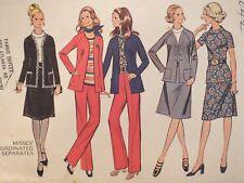 Lovely VTG 71 McCALLS 3042 Misses Jacket Blouse Skirt & Pants PATTERN 16/38B