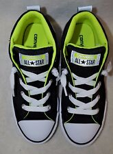 Converse Boy's All Star CT Street Mid Black/Volt/White Sneakers-Asst Sizes NWB