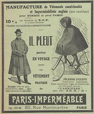 Z8052 Vetements pratique de PARIS IMPERMEABLE -  Pubblicità d'epoca - 1910 Ad