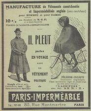Z8052 Vetements pratique de PARIS IMPERMEABLE -  Pubblicità d'epoca - 1910 Ad