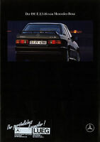 Mercedes 190 E 2.5-16 W 201 Prospekt 1989 7/89 brochure prospectus prospecto Pkw