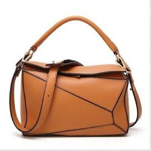 Mini puzzle bag real leather shoulder bag