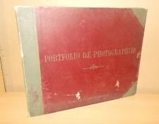 PHOTO PORTFOLIO DE PHOTOGRAPHIES VILLES ET PAYSAGES STODDARD 16 FASCICULES 1900