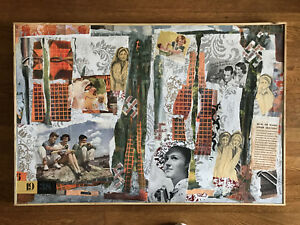 "Original Nazi collage painting ""1938"" Winner Honorable Mention Best Judaica 2017"