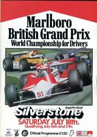 British Grand Prix 1981 Silverstone official programme + lap chart