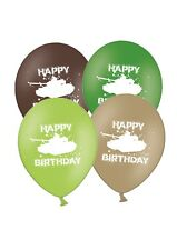 """Happy Birthday Army Tanks 12"""" Printed Latex Balloons Asst 5 ct By Party Decor"""