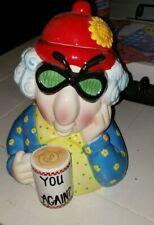 Hallmark Maxine Humor Face You Again Cookie Jar Figurine
