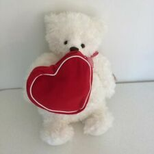 Hallmark From My Heart Bear 2003 Vtg Stuffed White Red Bag Purse Plush Ribbon
