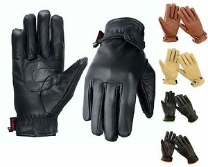 EVO All Weather Leather Gloves Motorbike Driving Thermal Casual Wheelchair