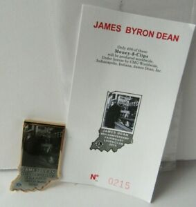 2015 James Dean Lions Club Collectible Money Clip Fairmount IN 0215 of 400 JR122